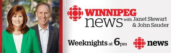 CBC news weeknights at 6pm with Janet Stewart and John Sauder