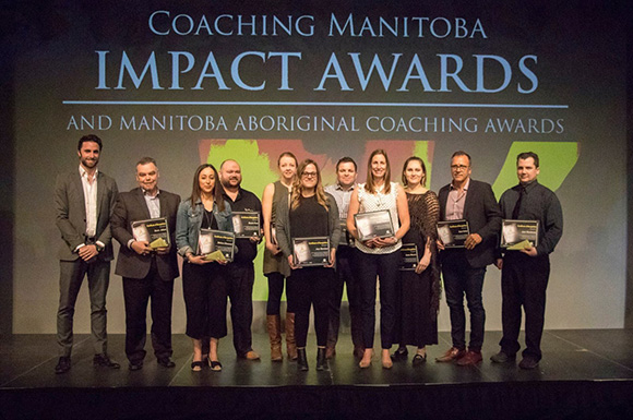 Coaching Manitoba Impact Awards on-stage @ Club Regent today!