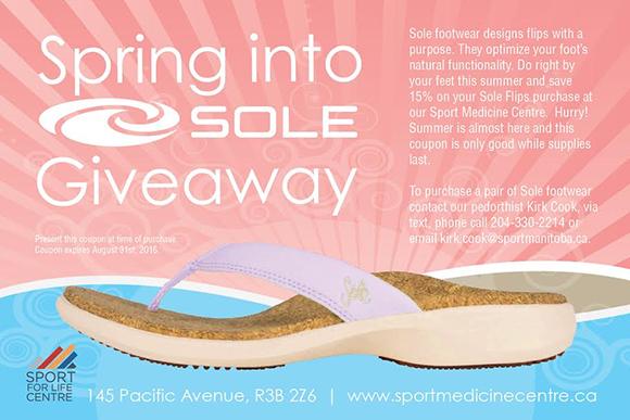 Sole footwear