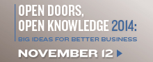 Open Doors, Open Knowledge Nov. 12/14