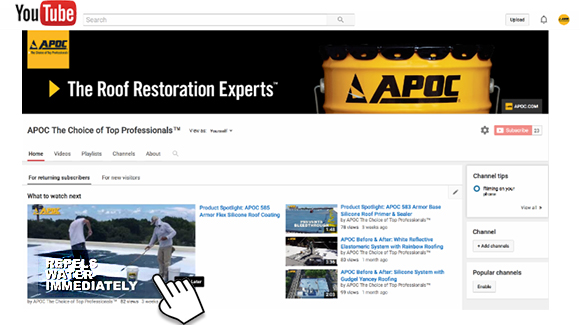 screencapture of APOC YouTube channel