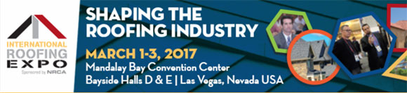International Roofing Expo - March 1 -3, 2017 - Shaping the Roofing Industry | Las Vegas