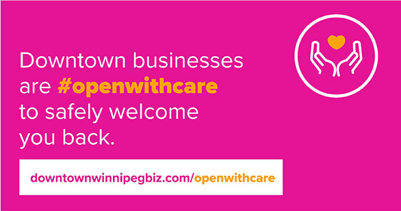 Downtown businesses are openwithcare to safely welcome you back.